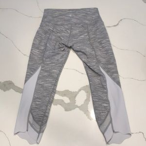 Lululemon like new! White and grey hi rise
